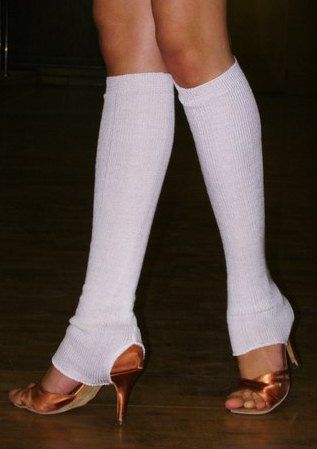 Бесшовные гетры для танцев и балета с прорезью для каблука.