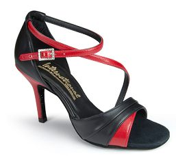 Туфли женские La International Dance Shoes (IDS)KARINA BLACK CALF/RED